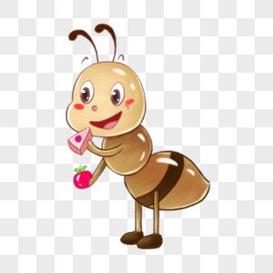 小蚂蚁吃蛋糕图片