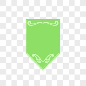 绿色环保旗帜标签图片