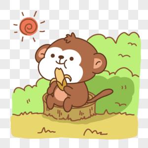 吃香蕉的猴子图片