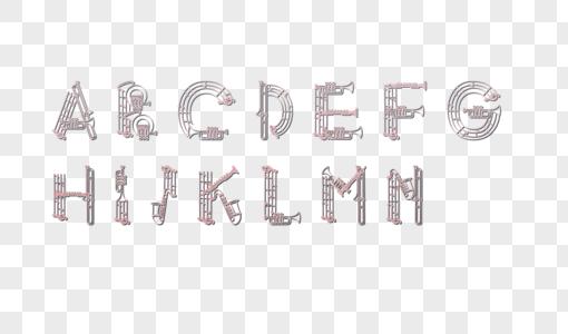 音乐字母图片