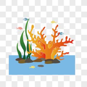 手绘卡通海底世界图片