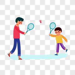 打羽毛球图片
