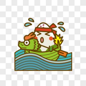粽子赛龙舟图片