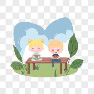坐着吃西瓜的孩子图片