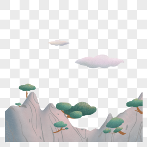 山丘背景元素图片