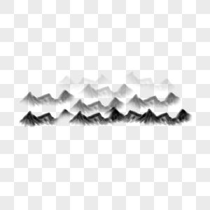 可商用中国风水墨山丘图片
