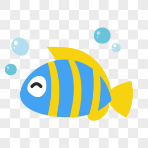 小鱼图标免抠矢量插画素材图片