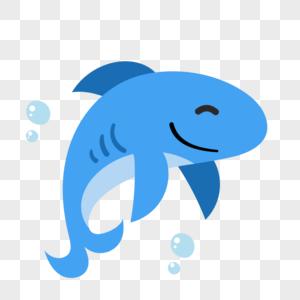 鲨鱼图标免抠矢量插画素材图片