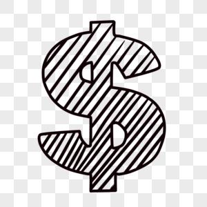 手绘美元图标图片