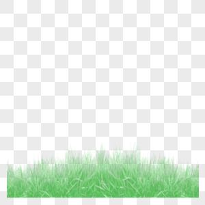 绿草如茵自然界边框底纹分隔线png免抠元素图片