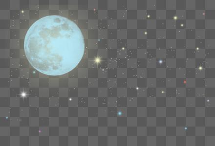 月亮星空光效图片