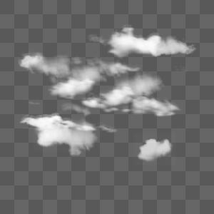天气飘浮手绘云图片