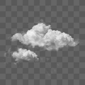 大团云朵手绘PNG图片