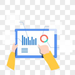 数据管理数据分析图标免抠矢量插画素材图片