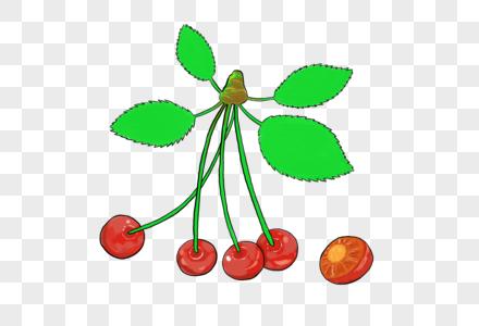 创意手绘樱桃设计图片