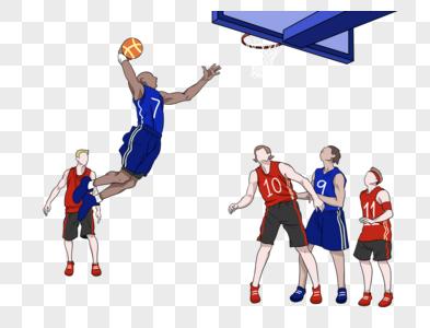 奥运会篮球NBA灌篮图片