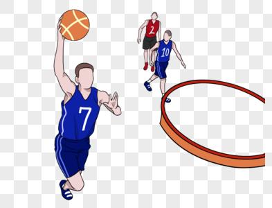 奥运会男子篮球NBA灌篮图片