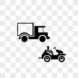 货车拉货小摩托汽车矢量图图片