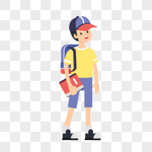 背着书包的男生图片
