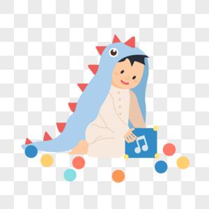 玩玩具的小婴儿图片