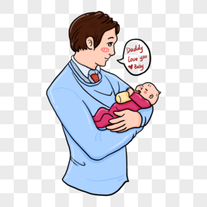 看着宝宝吃奶的父亲图片