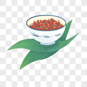 手绘端午节食物元素图片