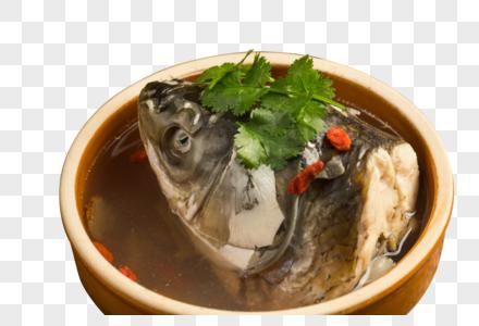 美味的鱼头汤图片