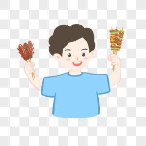 吃烧烤撸串的人图片