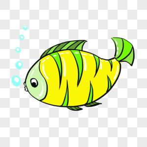卡通海洋生物鱼png免抠素材图片