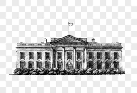 美国白宫建筑图片