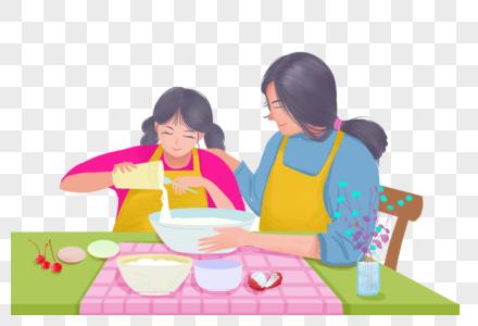 陪母亲吃饭的孩子图片