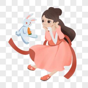 嫦娥和玉兔图片