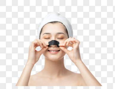 美女鼻贴美容图片