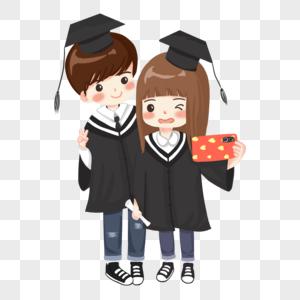 毕业男生女生合影自拍图片