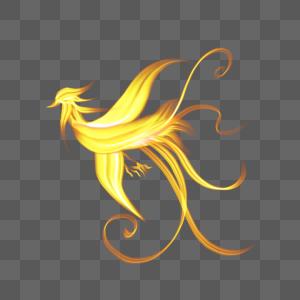 黄色凤凰火焰图片