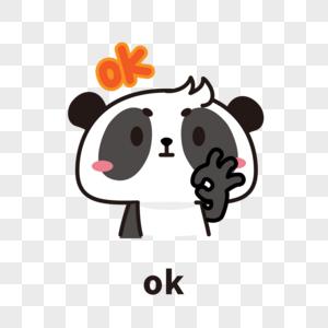 熊猫表情包OK图片