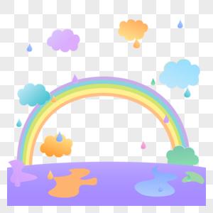 云朵彩虹图片