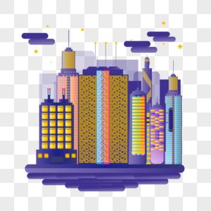 原创城市建筑矢量图图片