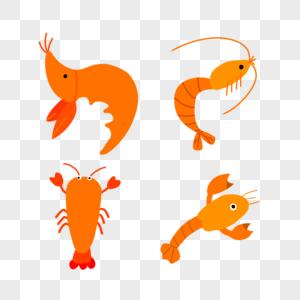 手绘龙虾图片