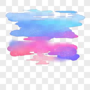 水彩星空云图片