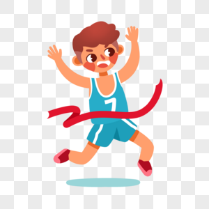 跑步男孩图片