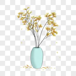 国画写意室内植物图片