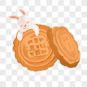 月饼玉兔图片