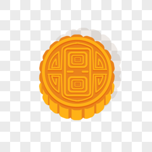 扁平化月饼花纹矢量图图片