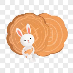 玉兔和月饼图片