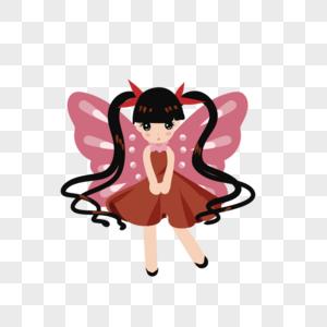 长蝴蝶翅膀的姑娘图片