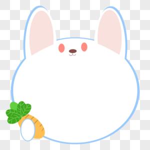 可爱的吃萝卜兔子边框图片