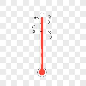 温度计热哭了元素图片