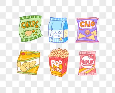 膨化食品好吃的零食包装袋图片