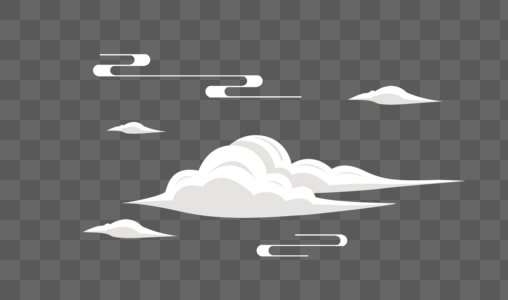 创意白色云朵元素设计图片